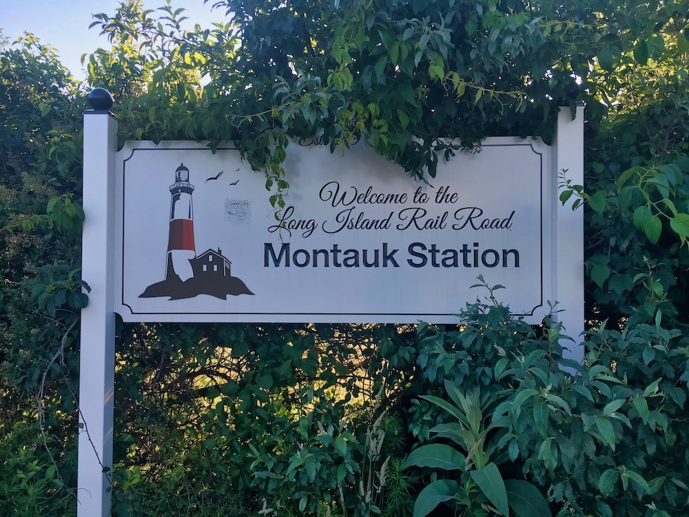 3 Days in Montauk - Station Sign