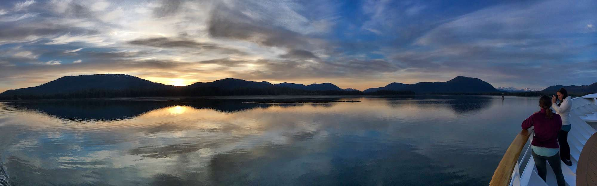 Sunset in Wrangell Narrows