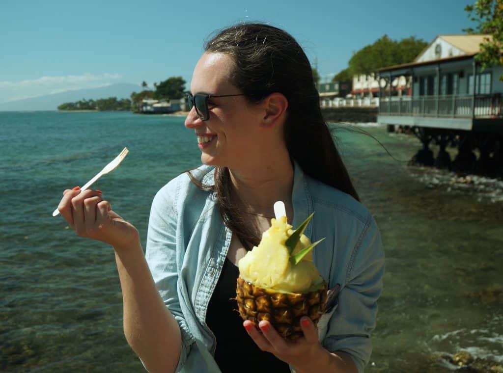 UnCruise Hawaii - Day 5 - Valerie with Frozen Pineapple
