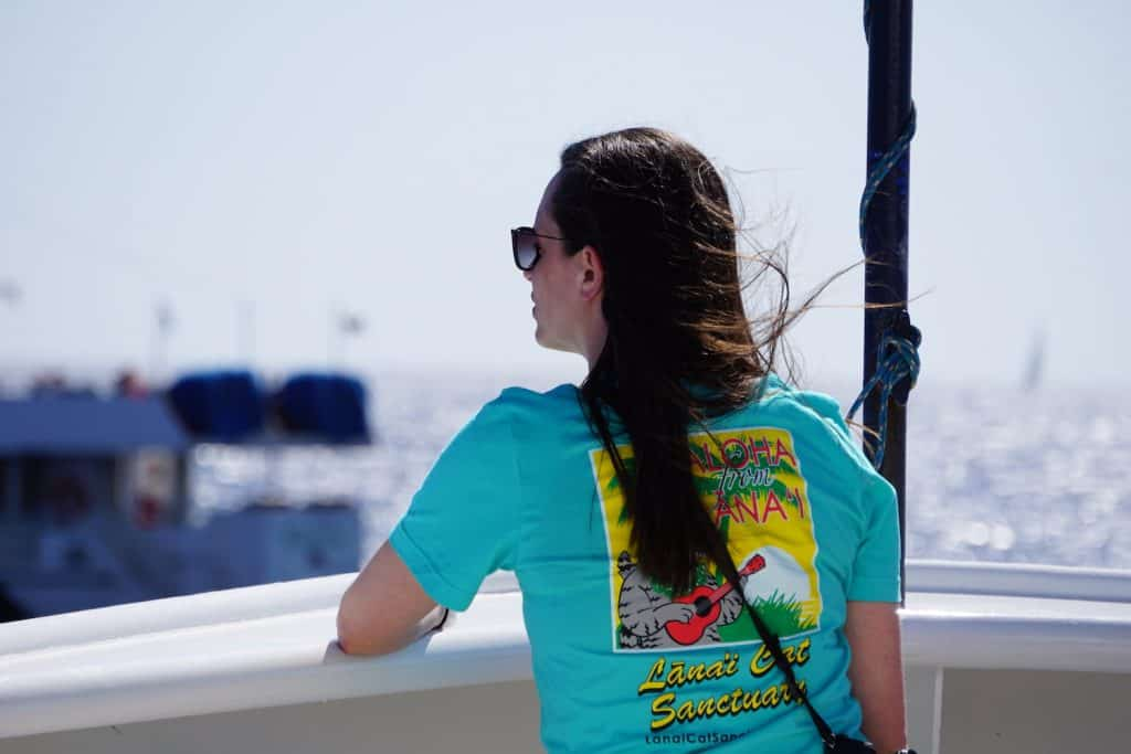 UnCruise Hawaii - Valerie on the BOw