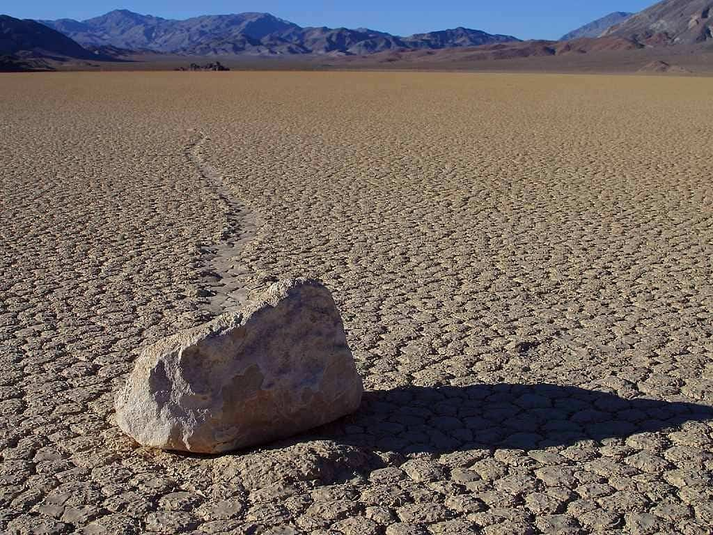 California Road Trip - Rock in the Racetrack at Death Valley