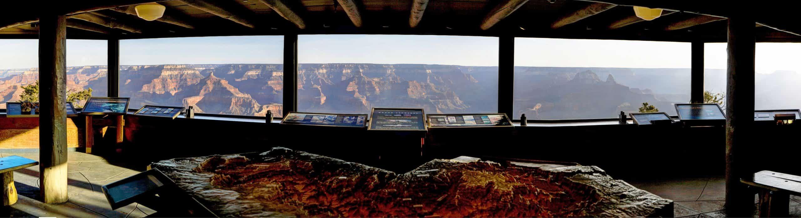 Half-Day at Grand Canyon - Yavapai Geology Museum -NPS photo by William Joye