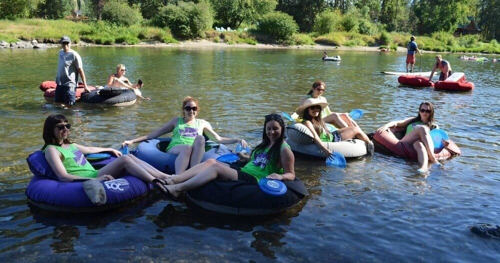 Leavenworth Bachelorette Party - River Floating