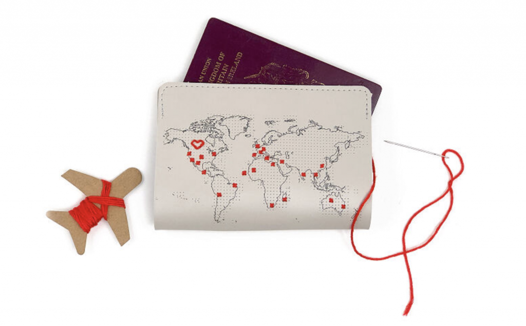 2020 Traveler Gift Guide - Travel-Inspired Gifts - Cross-Stitch Passport Cover