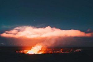 Hawaii Volcanoes Night Glow