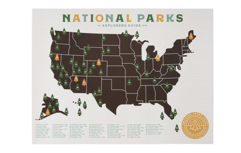 National Park Gifts - Map
