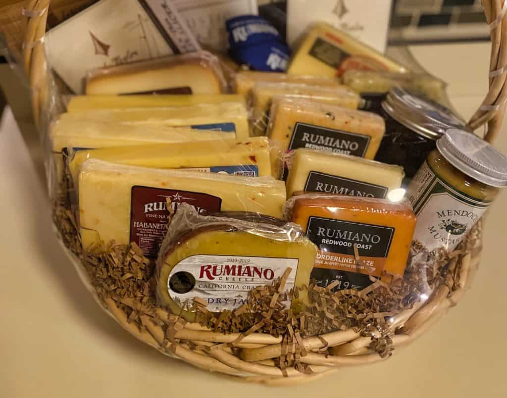 Things to Do in Crescent City - Rumiano Cheese basket