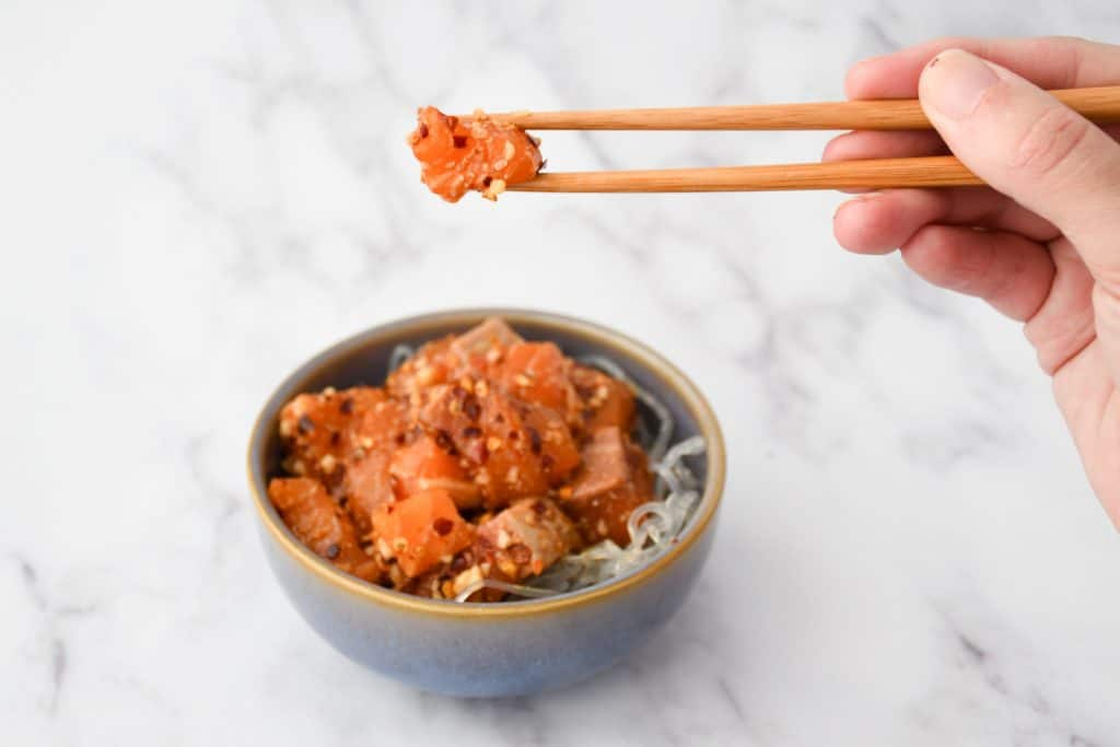 Alaskan Salmon Poke - Final Poke Bowl
