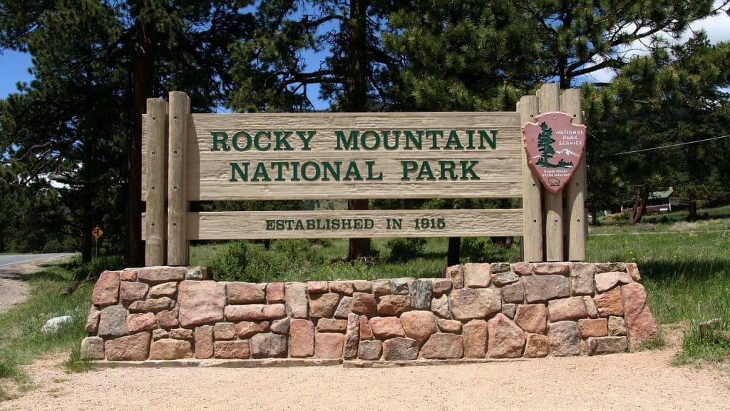 Colorado National Parks - Rocky Mountain NP Sign