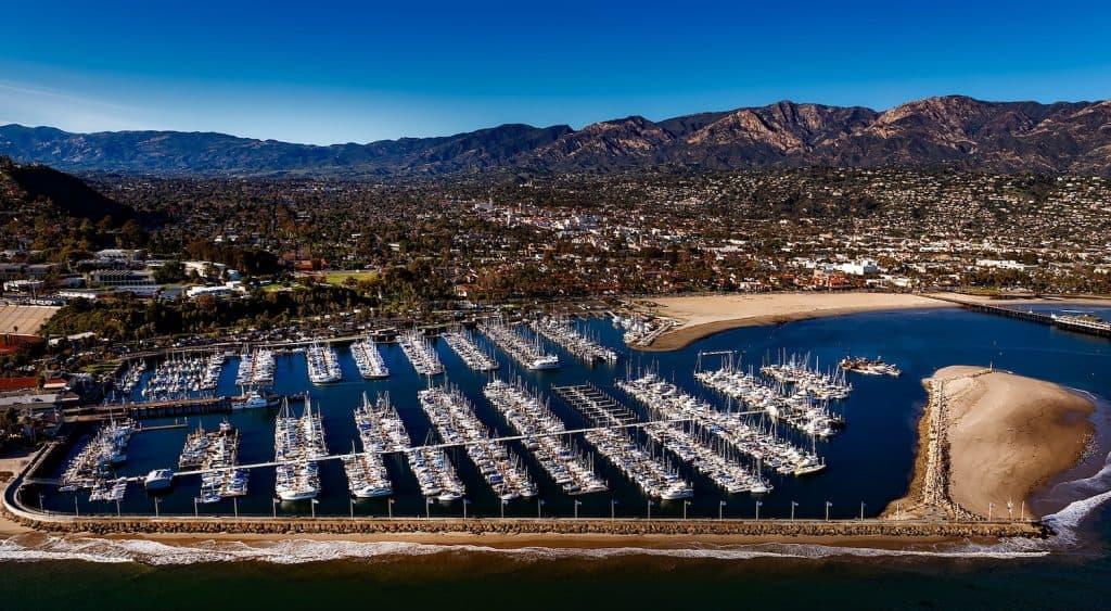 California Coast Road Trip - Santa Barbara Aerial