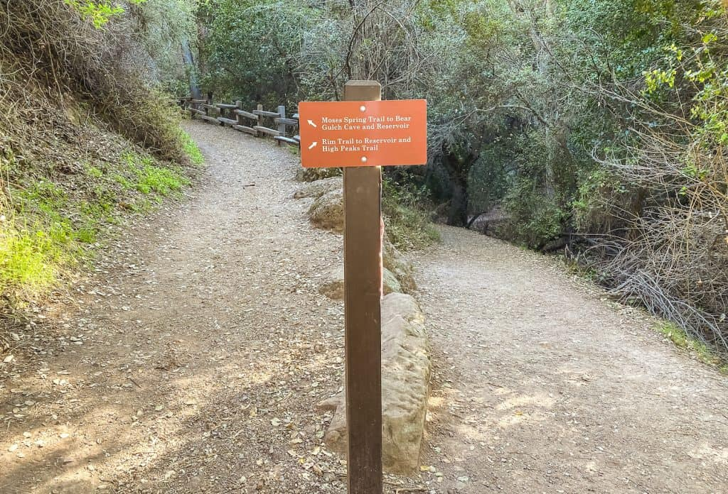 Pinnacles National Parks Part-Day Hikes Sign