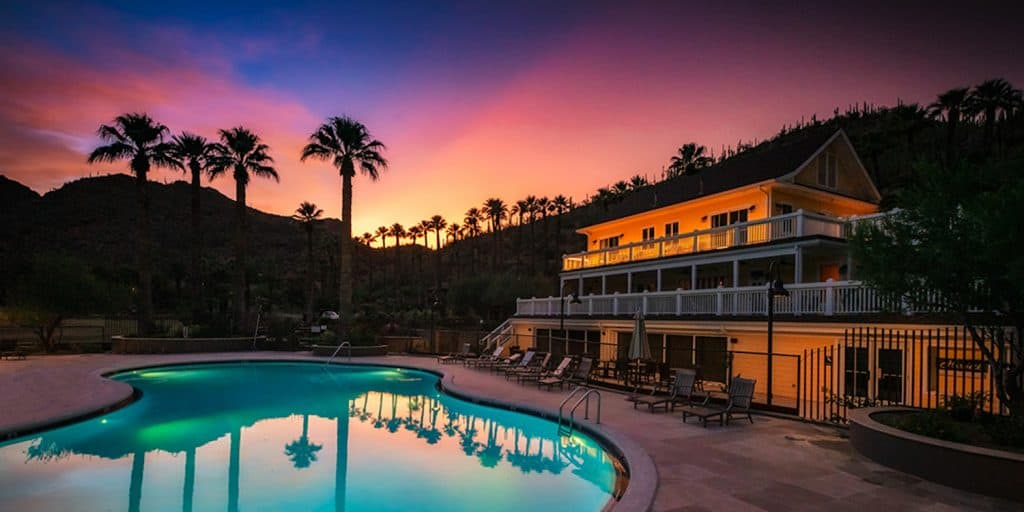 Castle Hot Springs Resort, Arizona at Sunset