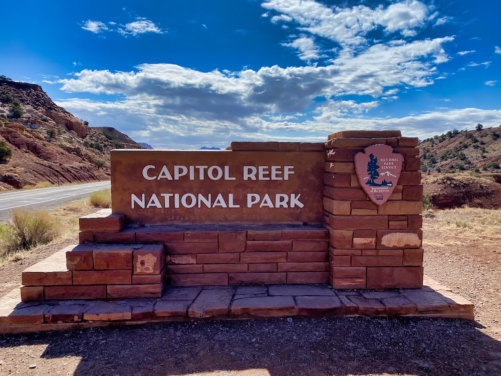 One Day in Capitol Reef - Entrance Sign