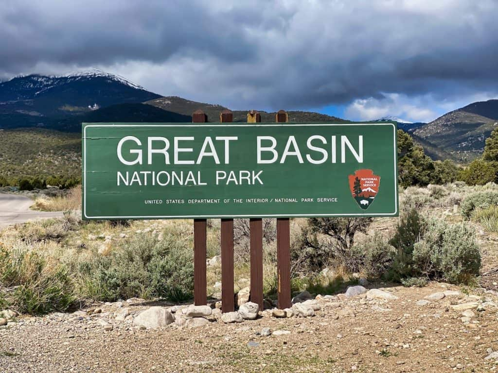One Day in Great Basin - Entrance Sign