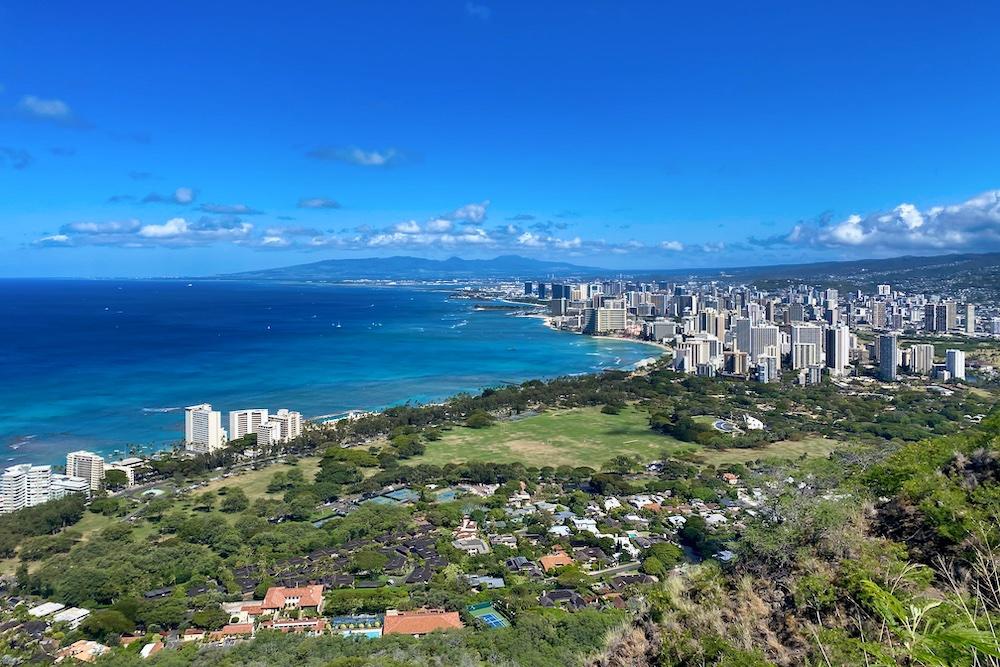 5 Day Oahu Itinerary - Diamond Head View