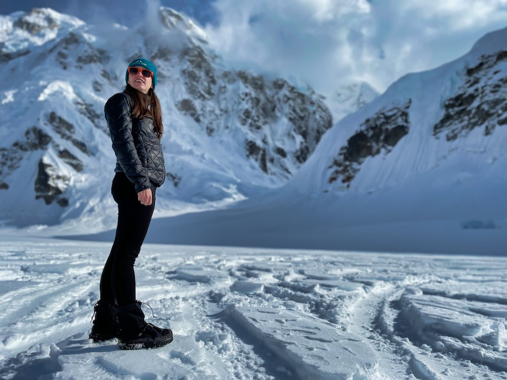 Denali National Park Itinerary - Valerie on a Glacier
