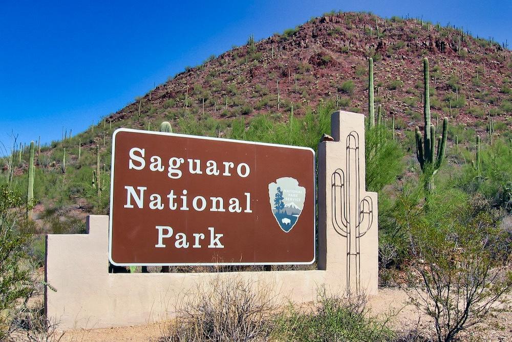Saguaro National Park Itinerary - Park Sign